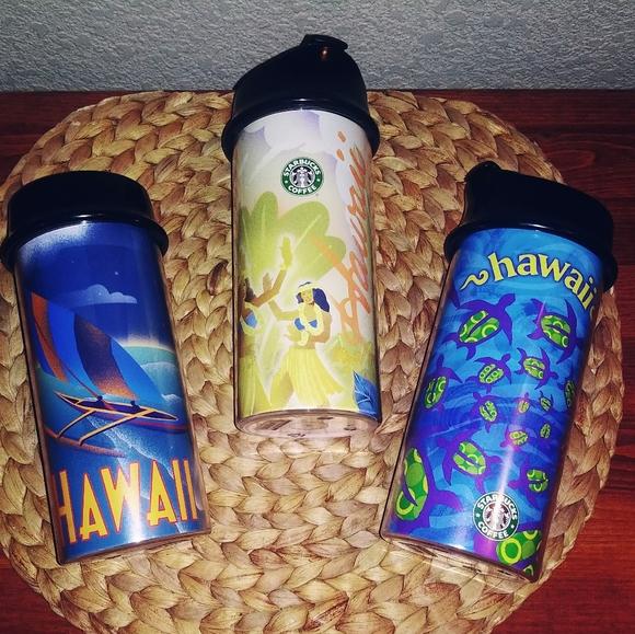 Vintage Starbucks Hawaiian tumblers